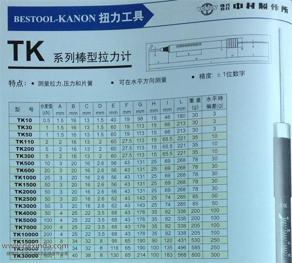 TK1500 弹簧秤/拉力棒