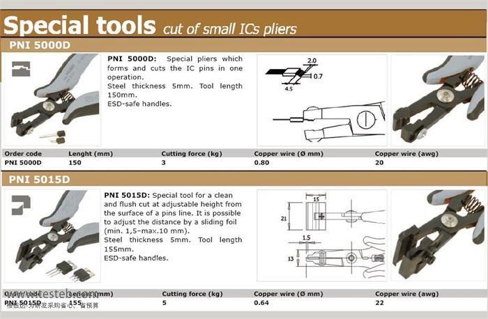 PNI5015 元件引脚成形钳