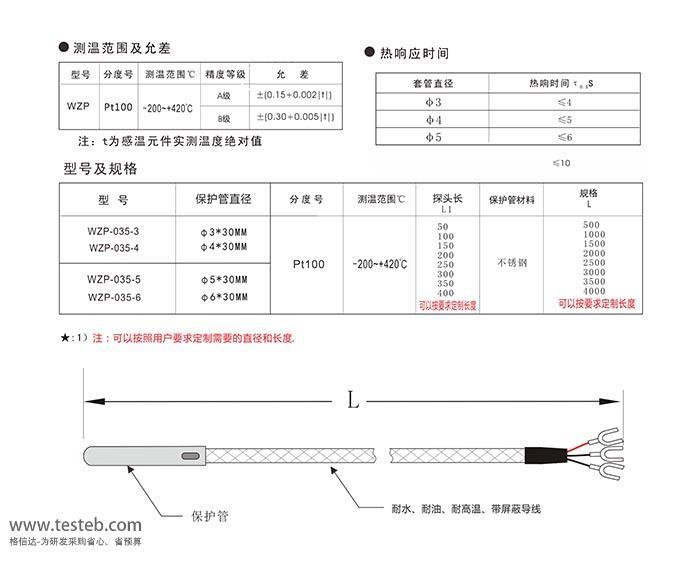 WZP-035 热电阻RTD