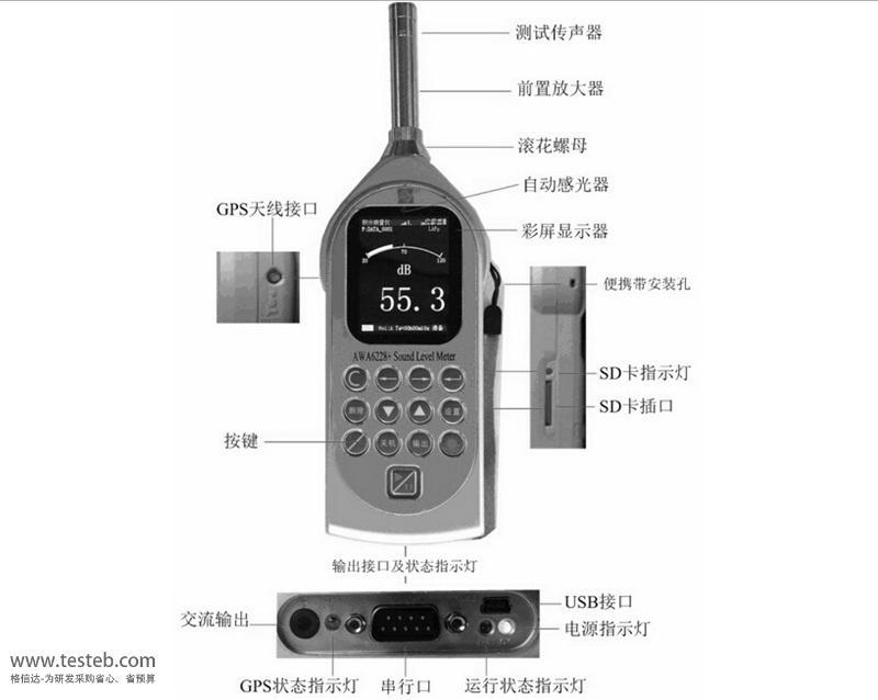 AWA6228Pro 噪音计/分贝计