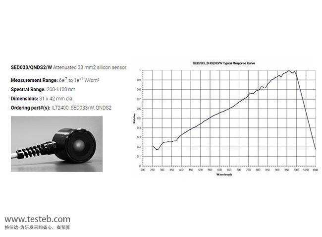 SED033-QNDS2 辐照计/照度计